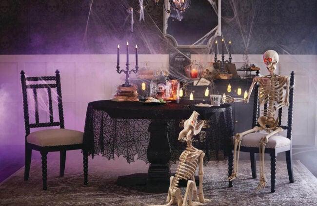 The Best Halloween Decorations Option: 5 ft. Hanging Plastic Posable Skeleton