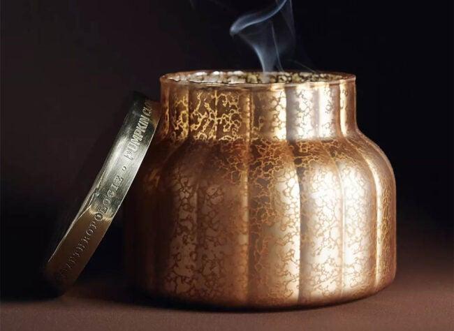 The Best Halloween Decorations Option: Capri Blue Pumpkin Clove Jar Candle