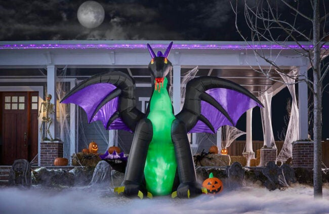 The Best Halloween Decorations Option: Gemmy 8.5 ft. Dragon Airblown Halloween Inflatable