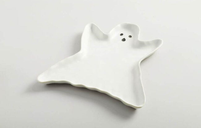 The Best Halloween Decorations Option: Ghost Shaped Stoneware Serving Platter