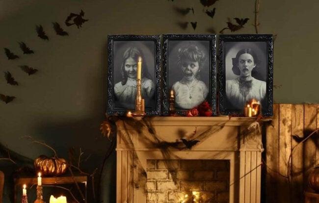 The Best Halloween Decorations Option: Lansian Halloween Decoration Changing Face Picture Frame