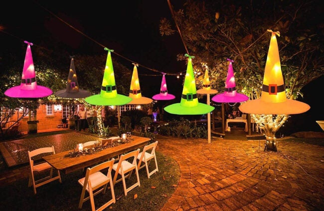 The Best Halloween Decorations Option: Maoyue Hanging Lighted Witch Hat Decorations
