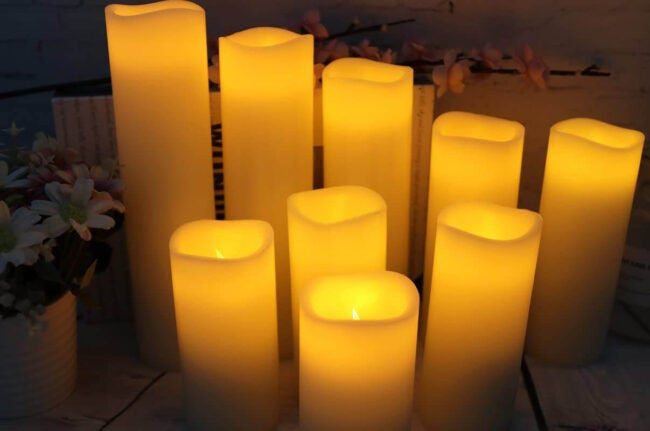 The Best Halloween Decorations Option: Vinkor Flameless Candles Set of 9