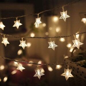 The Best Indoor Christmas Lights Option: Twinkle Star 100 LED Star String Lights