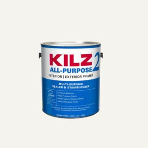 The Best Paint for Brick Fireplace Option: KILZ 2 Interior or Exterior Water-Based Primer