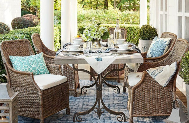The Best Places to Buy Patio Furniture Option: Pottery Barn