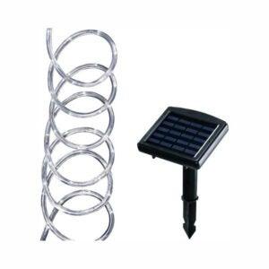 The Best Solar Christmas Light Option: Hampton Bay Solar Powered Clear Outdoor Rope Light