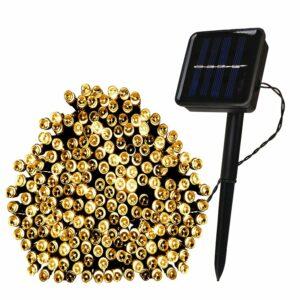 The Best Solar Christmas Light Option: The Holiday Aisle 100 Light Solar String Lights