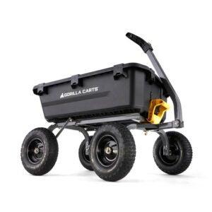 The Best Wheelbarrow Option: Gorilla Carts 7 cu. ft. Poly Yard Dump Cart