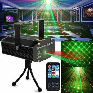 The Best Christmas Light Projectors Option: SPOOBOOLA Party Light DJ Disco Lights