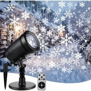 The Best Christmas Light Projectors Option: YMING Christmas Snowflake Projector