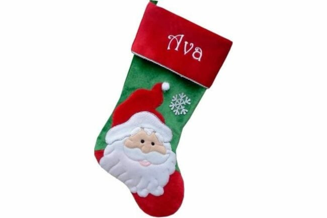 The Best Christmas Stockings Option: Happy Santa Personalized Christmas Stockings