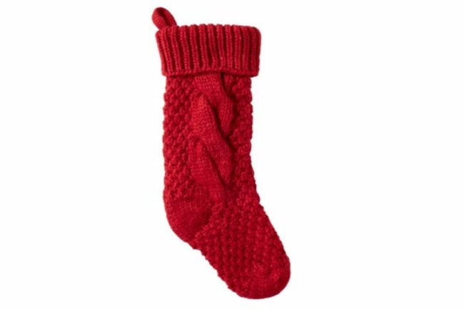 The Best Christmas Stockings Option: L.L. Bean Chunky Knit Christmas Stocking