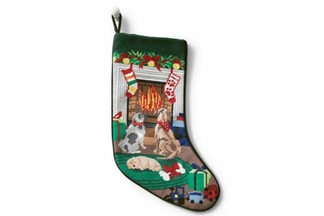 The Best Christmas Stockings Option: Land's End Needlepoint Personalized Stocking