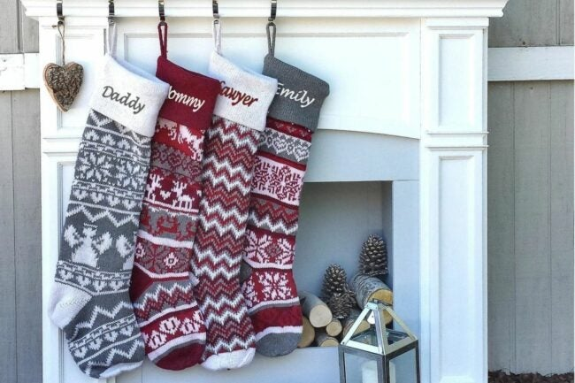 """The Best Christmas Stockings Option: Personalized Large 28"""" Knitted Christmas Stockings"""