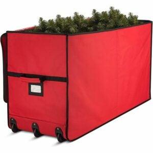 The Best Christmas Tree Bags Option: Zober Super Rigid Rolling Christmas Tree Storage Box