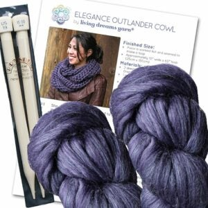 The Best Craft Kits for Adults Option: Elegance Outlander Cowl Knit Kit
