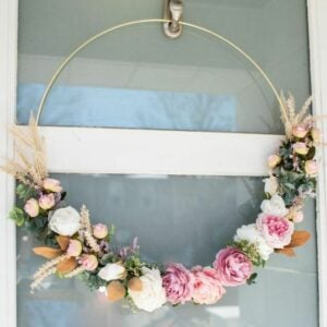 The Best Craft Kits for Adults Option: Floral Hoop Wreath Kit