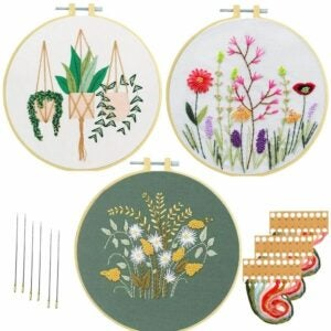 The Best Craft Kits for Adults Option: Nuberlic 3 Sets Embroidery Kit for Adults