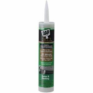The Best Gutter Sealants Option: DAP 18377 3.0 Crystal Clear Premium Gutter Sealant