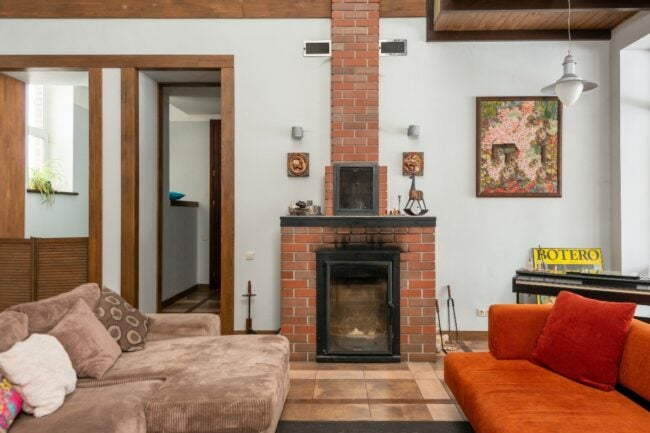 best paint brick fireplace