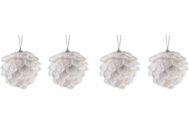 The Best Christmas Ornaments Option: Clever Creations White Flower Christmas Tree Ornament
