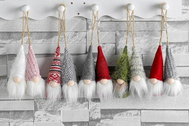 The Best Christmas Ornaments Option: Funoasis Christmas Tree Hanging Gnomes Ornaments