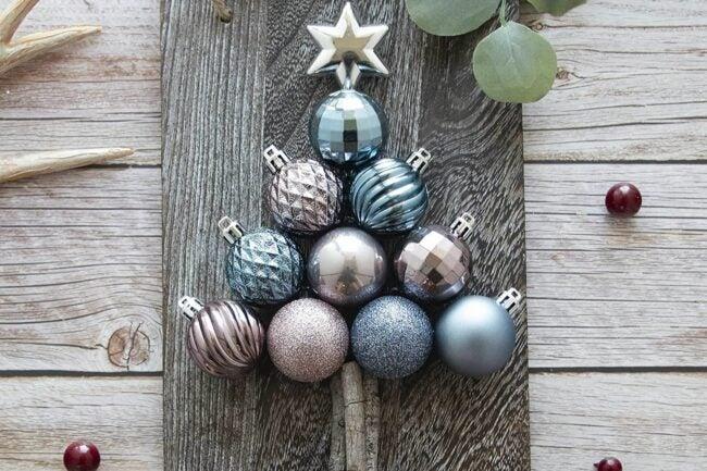 The Best Christmas Ornaments Option: KI Store 34ct Dusty Blue Christmas Balls