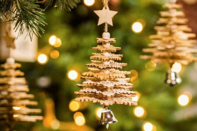 The Best Christmas Ornaments Option: Mercury Row Wood Christmas Tree Hanging Figurine