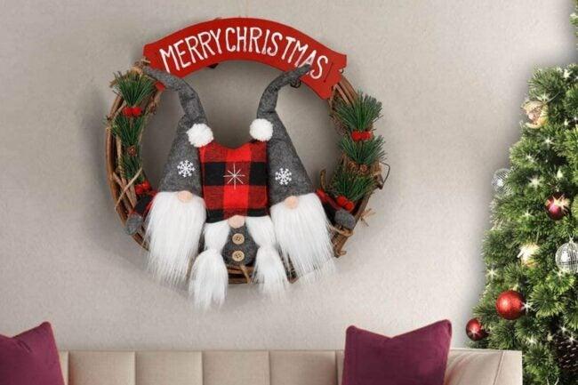 The Best Christmas Wreaths Option: D-FantiX Swedish Gnome Christmas Wreath