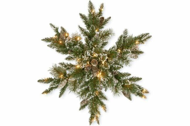 The Best Christmas Wreaths Option: National Tree Company Pre-lit Christmas Star Wreath