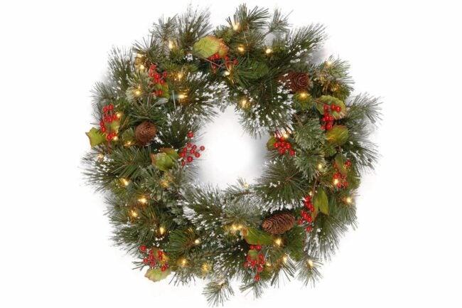 The Best Christmas Wreaths Option: National Tree Company Pre-lit Christmas Wreath