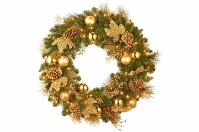 The Best Christmas Wreaths Option: National Tree Company lit Artificial Christmas Wreath