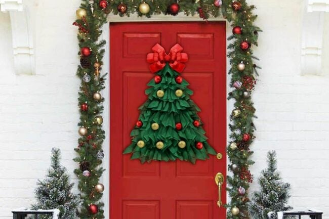 The Best Christmas Wreaths Option: Oriental Cherry Christmas Wreath 24 Inch Handmade