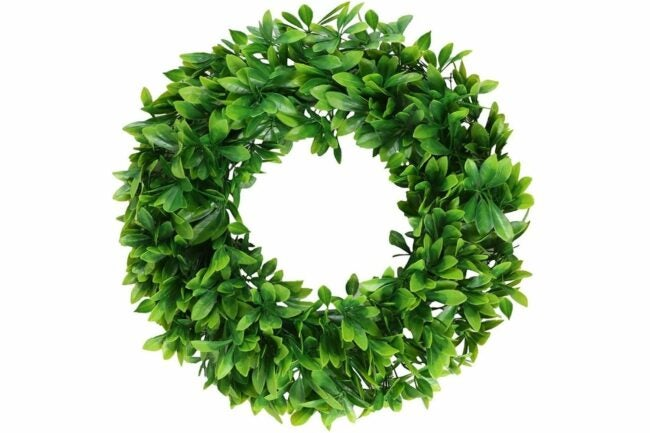 """The Best Christmas Wreaths Option: Pauwer Artificial Green Leaves 16"""" Boxwood Wreath"""