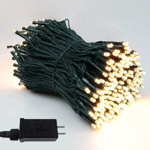 Best Outdoor Christmas Lights Option: BHCLIGHT Extra-Long LED Green Wire Christmas Lights
