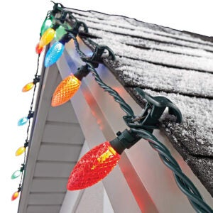 Best Outdoor Christmas Lights Option: 3 NOMA C9 LED Quick Clip Christmas Lights