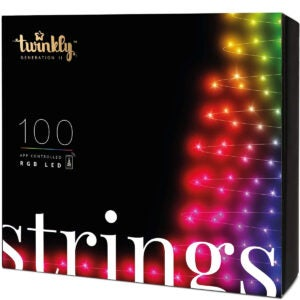 Best Outdoor Christmas Lights Option: Twinkly TWS100STP 100 Multicolor LED String Lights