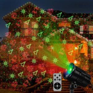 Best Outdoor Christmas Lights Option: XVDZS Christmas Laser Lights