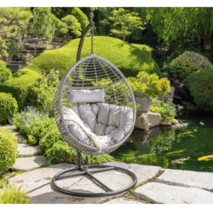 Best Porch Swings Option: Christopher Knight Home Layla Hanging Basket Chair