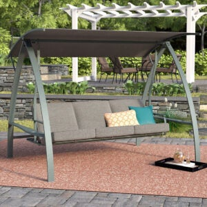 Best Porch Swings Option: Andover Mills Marquette 3-Seat Daybed Porch Swing