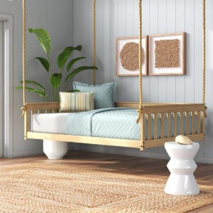 Best Porch Swings Option: Rosecliff Heights Unfinished Carol Daybed