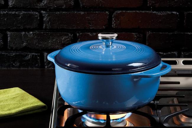 bv-deals-092721-20: Lodge 6 Quart Enameled Cast Iron Dutch Oven
