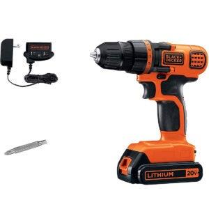 Cheap Tools Option: BLACK+DECKER 20V MAX Cordless Drill