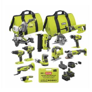 Cheap Tools Option: RYOBI ONE- 18V Cordless 12-Tool Combo Kit