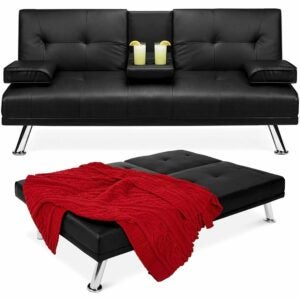 The Best Cyber Monday Deals: Best Choice Products Faux Leather Convertible Sofa