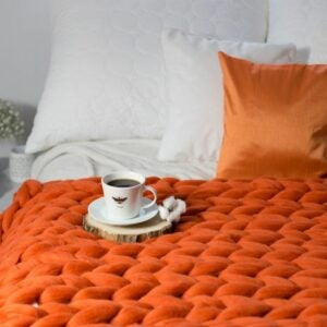 The Best Etsy Gifts Option: Chunky Knit Blanket