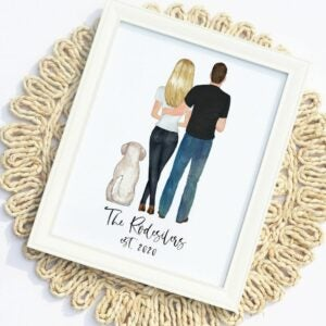 The Best Etsy Gifts Option: Custom Family Portrait