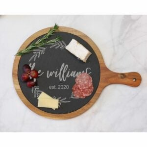 The Best Etsy Gifts Option: Custom Round Cheese Board