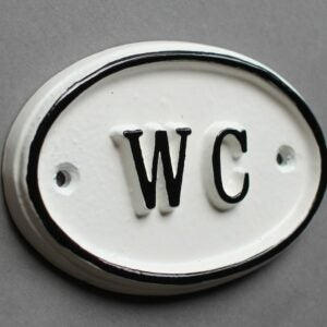 The Best Etsy Gifts Option: French WC Shabby Chic Toilet Door Sign